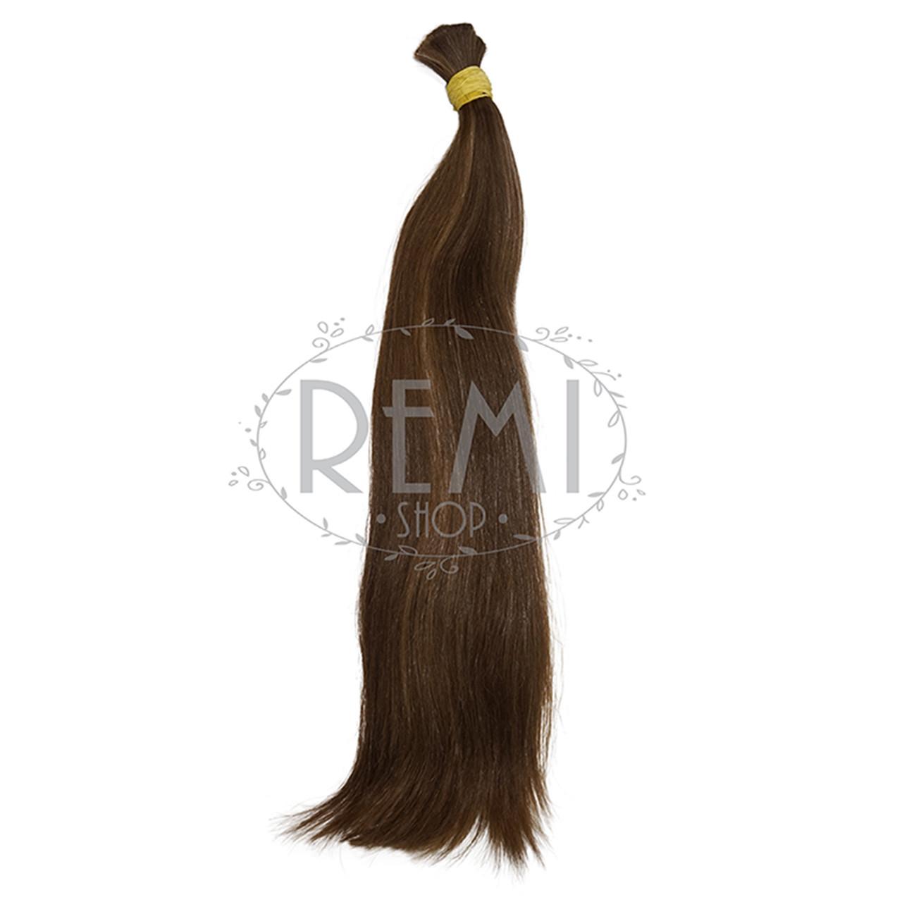 Славянские волосы в срезе 40 см. Неокрашенные темные, фото 1