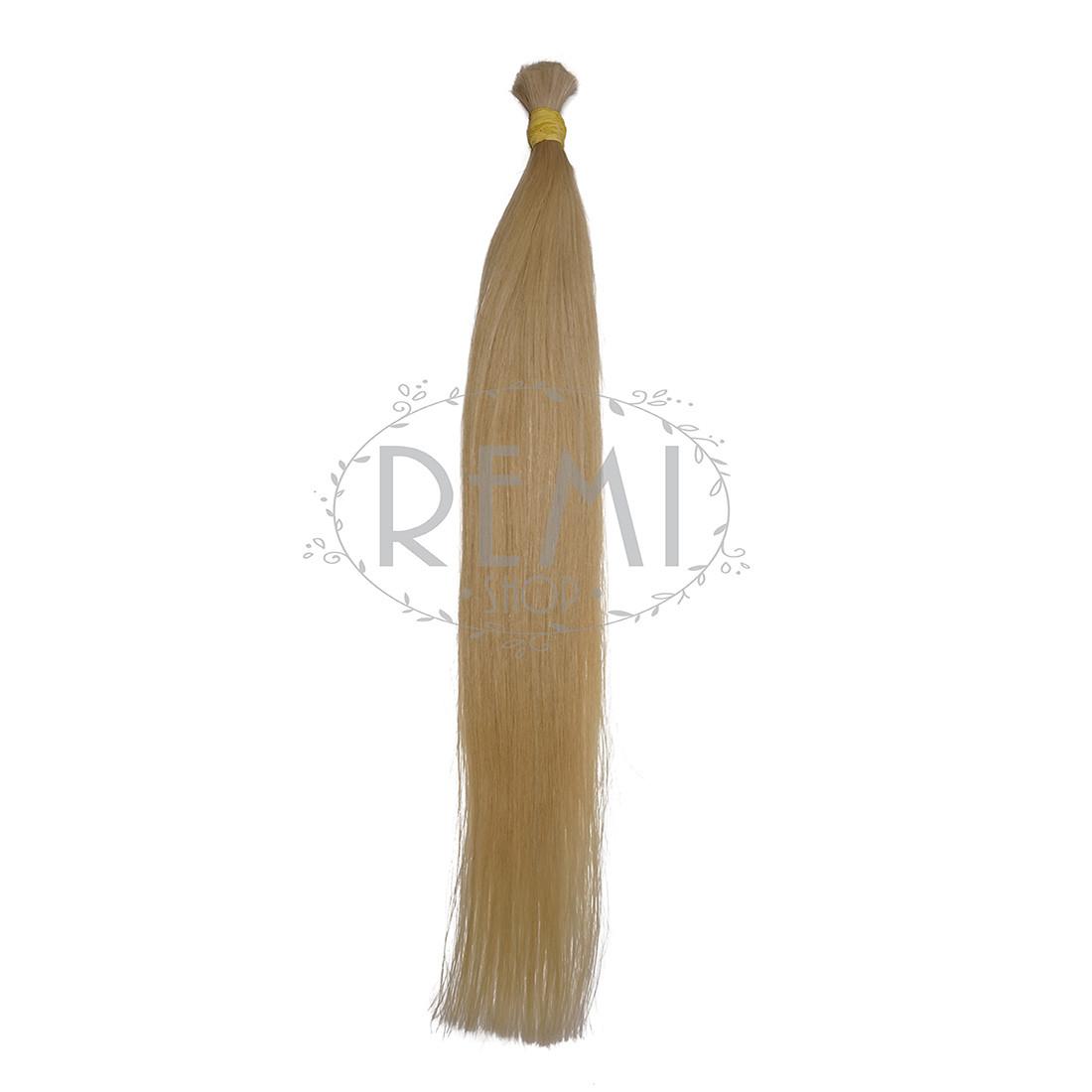 Славянские волосы в срезе 80 см. #Блонд, фото 1
