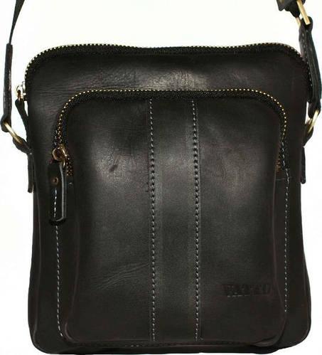 Качественная мужская сумка на плечо из натуральной кожи VATTO Mk-48Kr670 черный