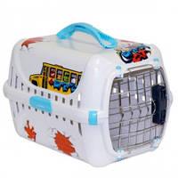 Moderna ГРАФИТИ 1 переноска для собак с металлической дверью IATA, 51х31х34, голубой