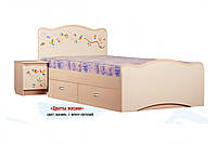 Кровать «Цветы жизни» с ящиком (ТМ Вальтер)