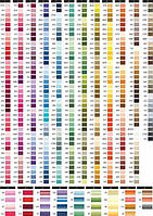 Нитки мулине для вышивания в каталоге (Франция)