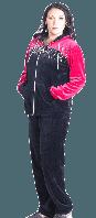 Велюровый костюм женский-Драгоценные камни