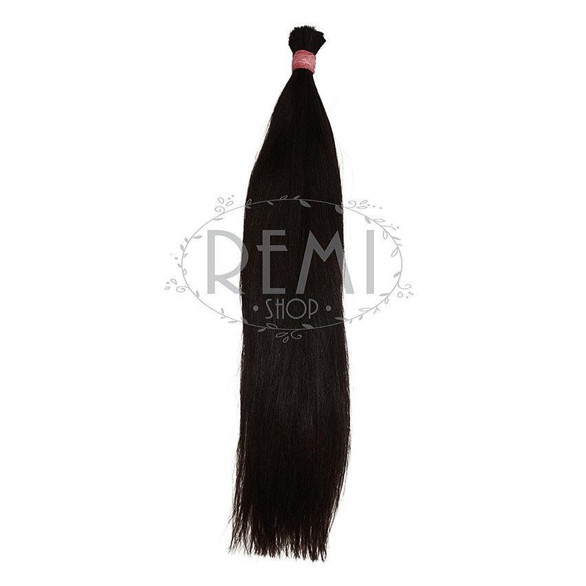 Срез славянских волос 60 см. Цвет #Черный, фото 1