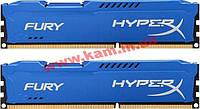 Оперативная память Kingston DDR3 16Gb (2x8GB) 1600 MHz HyperX Fury Fury Blue (HX316 (HX316C10FK2/16)