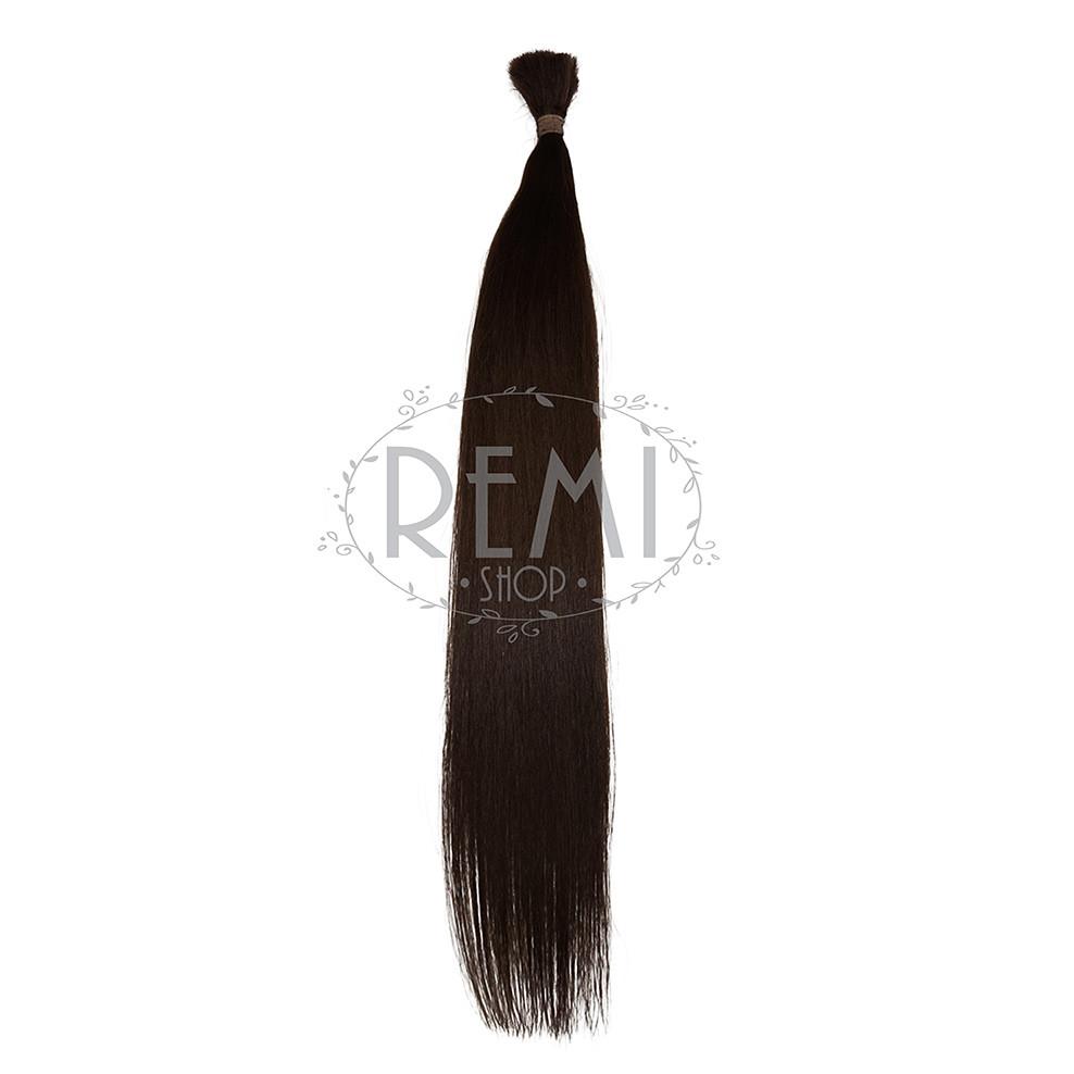 Срез славянских волос 60 см. Цвет #Коричневый