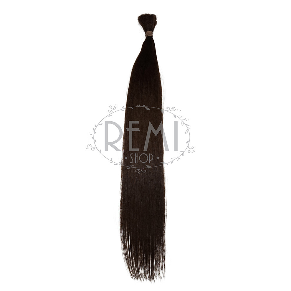 Срез славянских волос 60 см. Цвет #Коричневый, фото 1