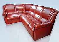 """Угловой кожаный диван """"Уют"""""""