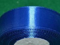 Стрічка атласна 25 мм ( 23 метри) синій 16310