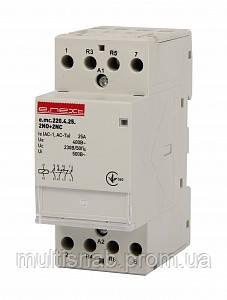 Модульный контактор e.mc.220.4.25.2NO+2NC, 4р, 25А, 2NO+2NC, 220 В