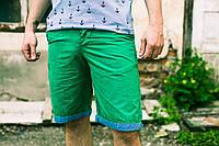 Бермуды мужские зеленые