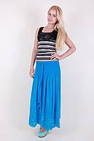 Женская летняя юбка голубого цвета 7093