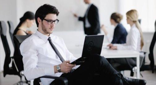 Работа за компьютером в очках