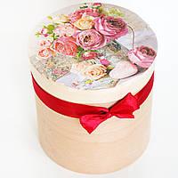 Деревянная шкатулка Розовый букет