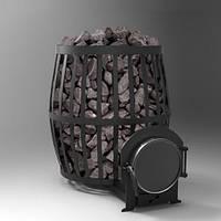 Печь каменка на дровах ПКБ Бочка до 20м3, дровяная банная печь