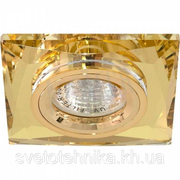 Точечный светильник Feron 8150-2 жёлтый золото