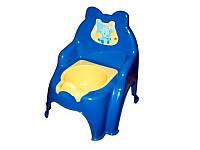 Горшок детский №2 013317-1 Фламинго-Тойс синий
