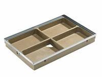 Поддон полимербетонный с рамкой 75х50