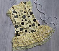 Желтое летнее платье сарафан для дев-очки рост 92 см, 116 см