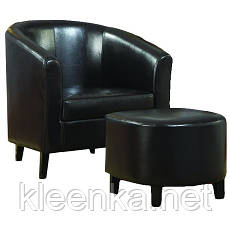 Черный кожзаменитель, экокожа для обивки кресел, диванов, стульев, табуреток и входных дверей на метраж, фото 2