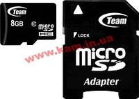 Карта памяти Team 8 GB microSDHC Class 10 + SD Adapter (TUSDH8GCL1003)