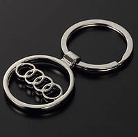 Брелок логотип Audi, хром