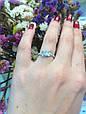 Серебряное кольцо солитер с одним камнем 34013-34018, фото 2