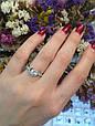 Серебряное кольцо солитер с одним камнем 34013-34018, фото 3