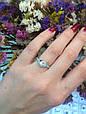 Серебряное кольцо солитер с одним камнем 34013-34018, фото 6