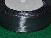 Стрічка атласна 25 мм ( 23 метри) графітовий 16317
