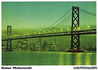 Фотообои бумажные на стену 388х270 см 8 листов: Бруклинский мост NY. Komar 8-017
