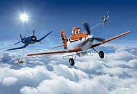 Фотообои бумажные на стену 368х254 см 8 листов: Самолетики. Komar 8-465