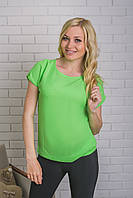 Блуза женская летняя салат, фото 1