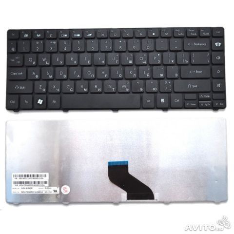 Клавиатура для ноутбука ACER (AS: 3750, 4535, 4736, 4935; TL: 3410, 3810, 4410, 4810; EM: D440, D442, D528, D6