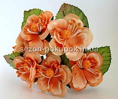 """Цветок """"Магнолия"""" (букет 6 шт) оранжевый цвет"""