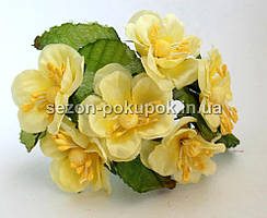 """Цветок """"Магнолия"""" (букет 6 шт) желтый цвет"""