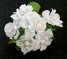 "Цветок ""Магнолия"" (букет 6 шт) белый цвет"
