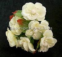 """Цветок """"Магнолия"""" (букет 6 шт) молочный цвет"""