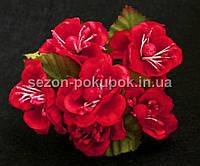 """Цветок """"Магнолия""""  (букет 6 шт) малиновый цвет"""
