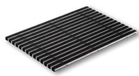 Алюминиевая решетка с резиновым покрытием 75х50 см
