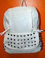 Рюкзак  молодежный, женский белый