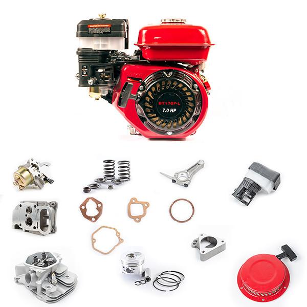 Запчасти на двигатели 6,5 л.с. (168-170, gx-200)