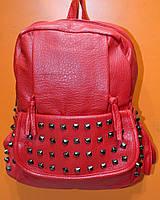 Рюкзак  молодежный, женский  красный