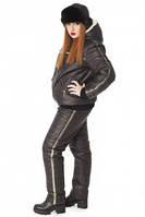 Зимний женский спортивный костюм большого размера
