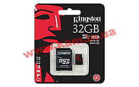Карта памяти Kingston 32 GB microSDHC class 10 UHS-I U3 + SD Adapter SDCA3/32GB (SDCA3/32GB)