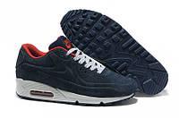 """Зимние кроссовки на меху Nike Air Max 90 VT Tweed Fur """"Blue"""" - """"Синие"""" (Копия ААА+), фото 1"""