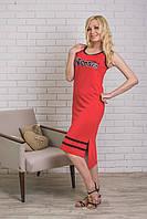 Платье летнее спортивное красное