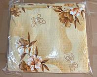 Постільна білизна Євро розміру жатка Тирасполь на бежевому квіти