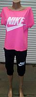 Костюм женский-Футболка свободного покроя с бриджами из вискозы