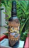 Сувенирная бутылка  Брутальная нежность Подарок в стиле стимпанк